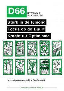 Verkiezingsprogramma D66 Beverwijk 2018 2022 2 Mb Pdf